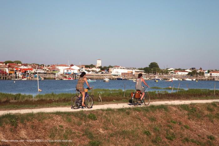 Piste cyclable à l'embouchure du Lay et de la baie de l'aiguillon